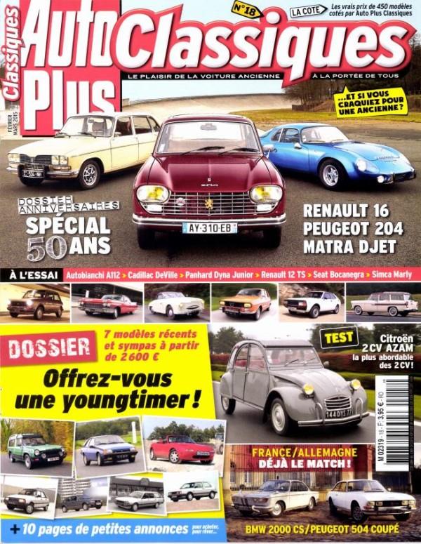 magazine auto plus classiques 18 francia. Black Bedroom Furniture Sets. Home Design Ideas