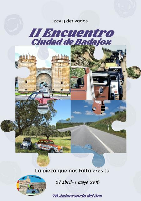 II Encuentro 2cv Ciudad de Badajoz @ Badajoz | Badajoz | Extremadura | España